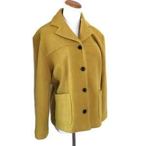 Jones NY Mustard Yellow Wool Blazer Sz Medium